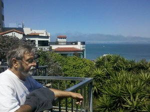 Errol looking out over Salsalito and the Bay