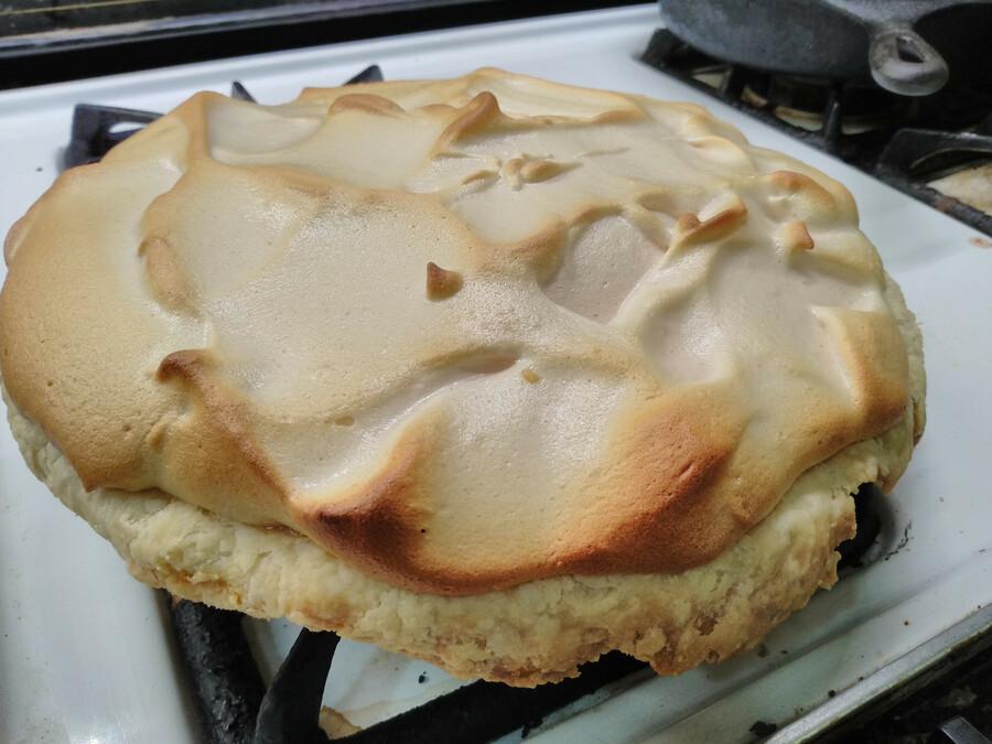 Gorgeous whole lemon-meringue pie