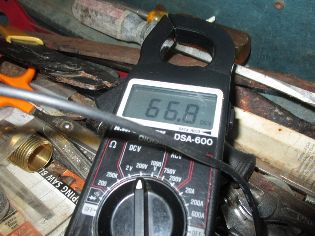 multimeter reading 66.8 DVC
